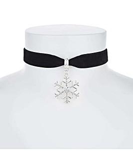 Mood Crystal Snowflake Choker Necklace
