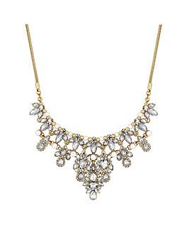Mood Crystal Cluster Ornate Necklace