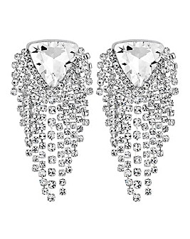 Mood Diamante Fringed Earring