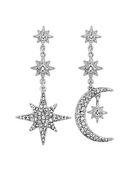 Mood Moon And Star Statement Earring