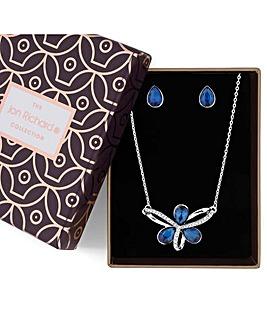 Jon Richard Crystal Loop Jewellery Set