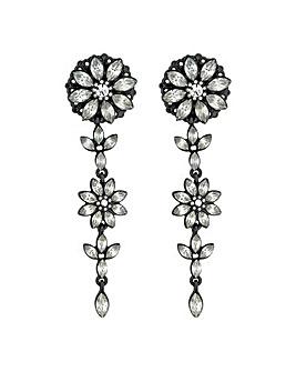 Mood Floral Crystal Drop Earring