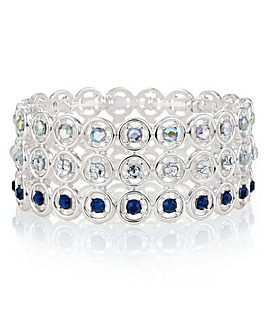 Mood Open Circle Crystal Bracelet