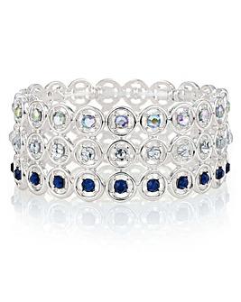 Mood Open Circle Crystal Bracelet