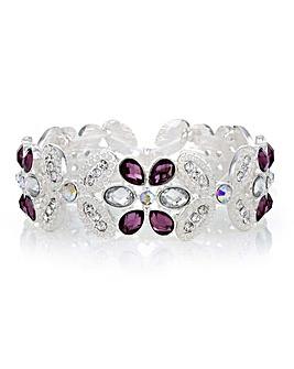 Mood Crystal Floral Bracelet
