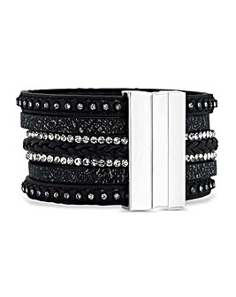 Mood Crystal Wrap Cuff Bracelet