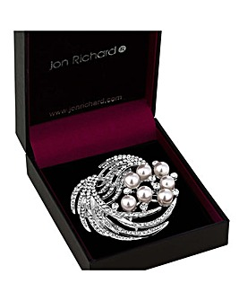 Jon Richard Crystal Spray Brooch