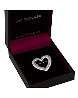 Jon Richard Open Heart Brooch