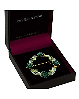 Jon Richard Flower Garland Brooch