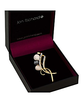 Jon Richard Gold Swirl Brooch