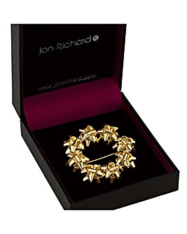 Jon Richard Festive Ribbon Brooch