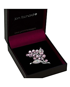 Jon Richard Crystal Bouquet Brooch