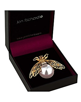 Jon Richard Pearl Bee Brooch