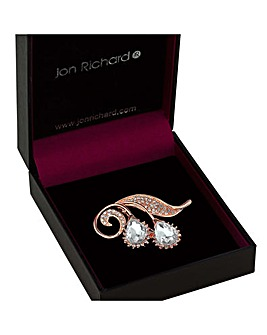 Jon Richard Floral Droplet Brooch
