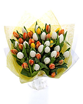 Easter Tulips 40 Stem Bouquet