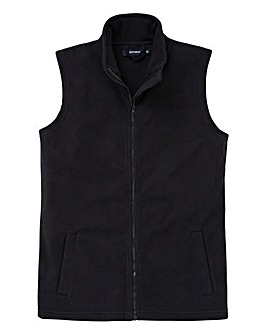 Southbay Unisex Plain Black Fleece Gilet
