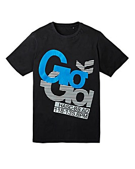 Gio Goi Deep Black T-Shirt Long