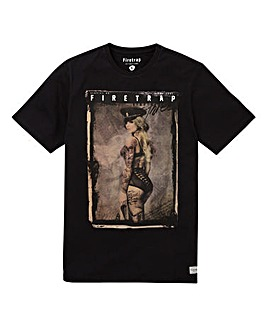 Firetrap Black Linton T-Shirt Regular