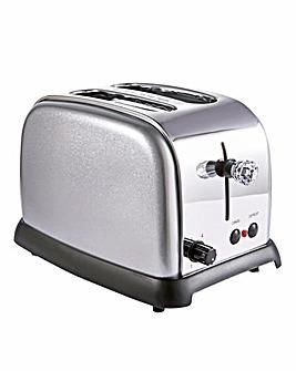 JDW Diamond Silver 2 Slice Toaster