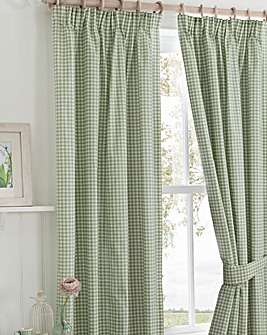 Country Journal Pencil Pleat Curtains