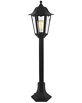 Nera Outdoor Tall Post Lantern - Blk