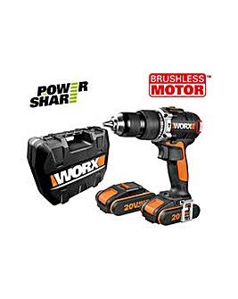Worx Brushless Hammer Drill