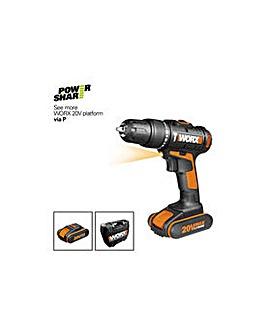 Worx Li-Ion 2 Batteries Hammer Drill
