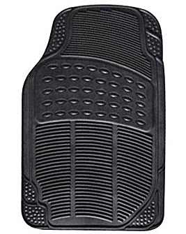 4 Pce Rubber Mat Set - Explorer - Black