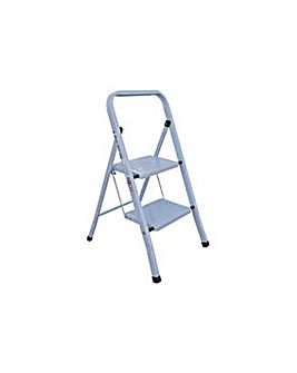 Simple Value 2 Step Steel Ladder.
