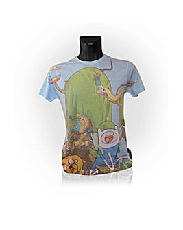 Adventure Time Treehouse Print T-Shirt