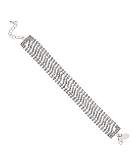 Mood silver diamante bracelet