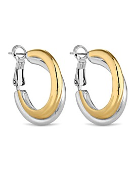 Jon Richard two tone hoop earring