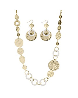 Mood textured shell jewellery set