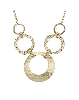Mood textured circle necklace