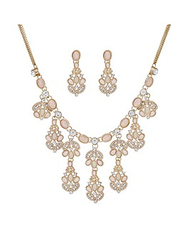 Mood Tonal Pink Crystal Jewellery Set