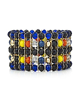 Mood multi colour beaded bracelet