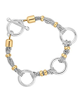 Jon Richard multi row ring link bracelet