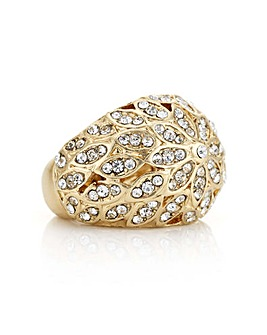 Mood gold crystal ring