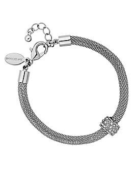 Jon Richard silver mesh charm bracelet
