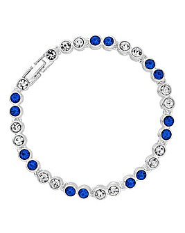 Jon Richard blue tennis bracelet