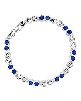 Jon Richard blue tennis bracelet