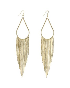 Mood fringed statement earring