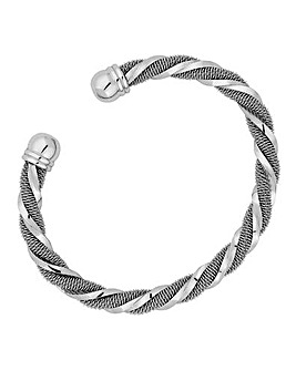 Jon Richard silver twist bangle