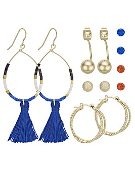 Mood hoop and stud earring set