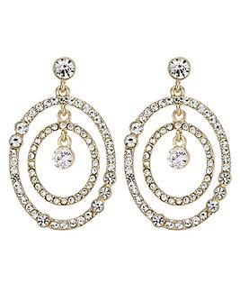 Mood gold multi circle earring