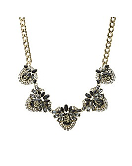 Mood crystal cluster statement necklace