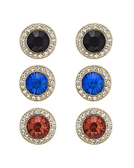 Mood multi colour stud earring set