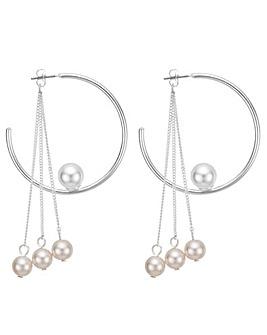 Mood pearl droplet hoop earring