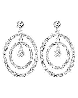 Mood silver multi circle earring
