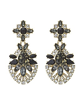 Mood crystal cluster statement earring